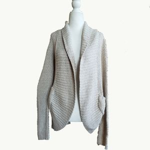 Anthropologie Cream Cable Knit Cardigan